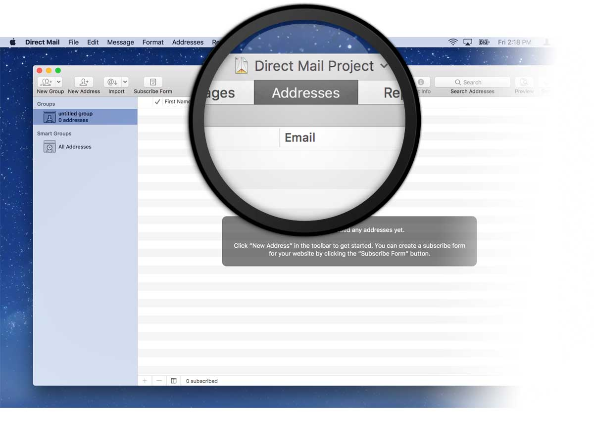 Adding recipients to your mailing list